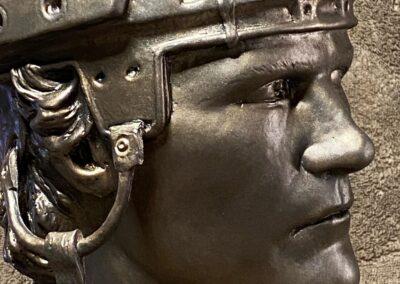 Bob Probert bronze sculpt