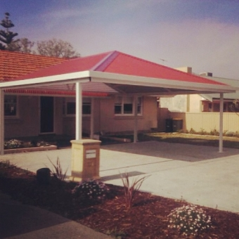 Free standing hipped gable, double gable carport