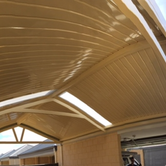 Gable patio clad with C deck