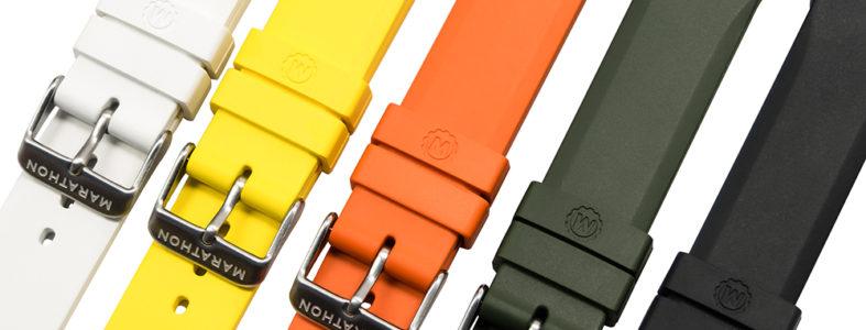 Marathon rubber watch straps