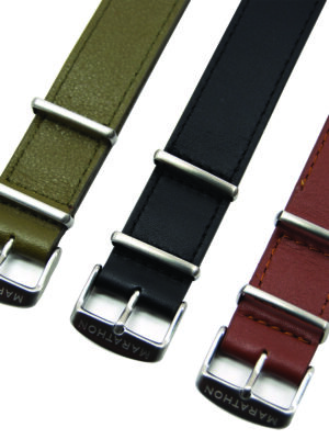 Marathon leather NATO strap