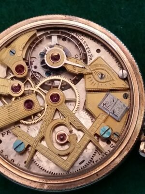 Rare Dudley Masonic Model 2 Display Case Pocket Watch