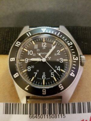 Marathon Gallet Steel Cased Navigator Watch