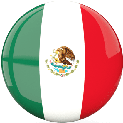 Mexican flag button for changing the page text to Spanish