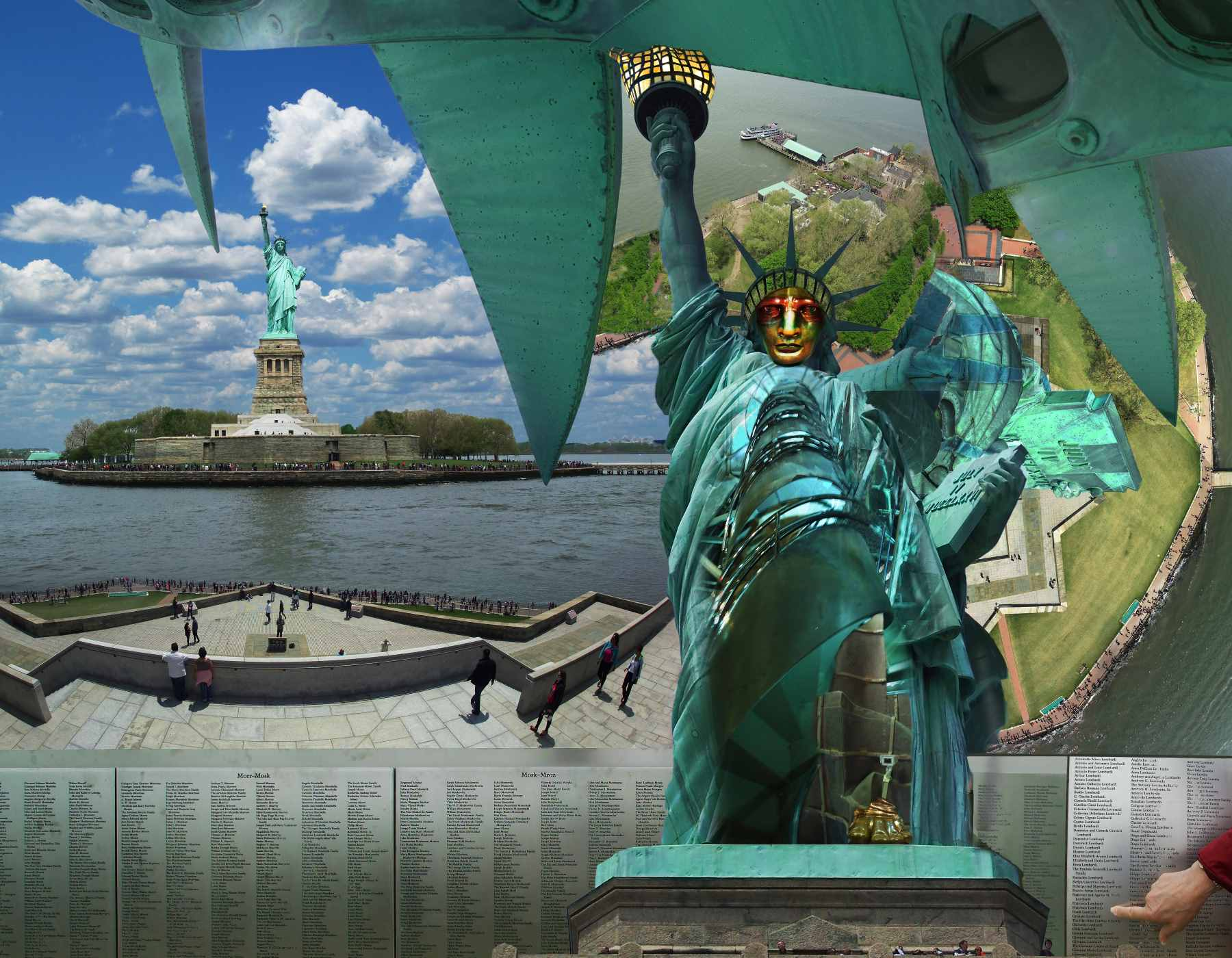 In and Out of the Statue of Liberty