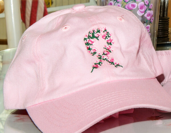Antrim County High Tea for Breast Cancer Prevention pink cap