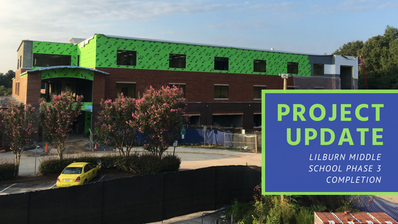 Project Update at Lilburn Middle School   Gwinnett County   Cooper & Company General Contractors