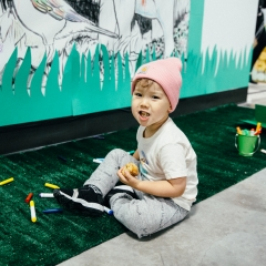 City Point Kids Market / Earth Day Maze Brooklyn, New York April 21, 2018