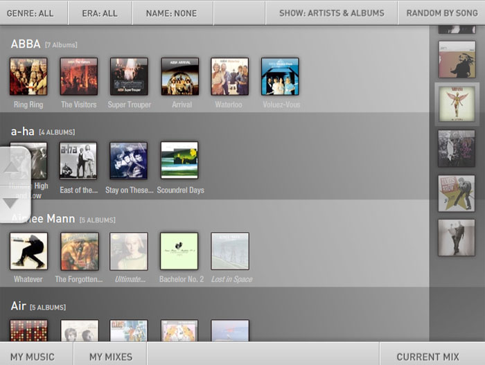 Music Republic: Bebop Music Collection Screen