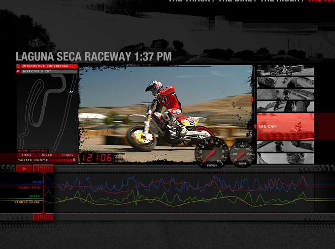 RedBull Copilot: Supermoto Race Screen