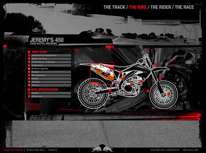 RedBull Copilot: Supermoto Bike Screen