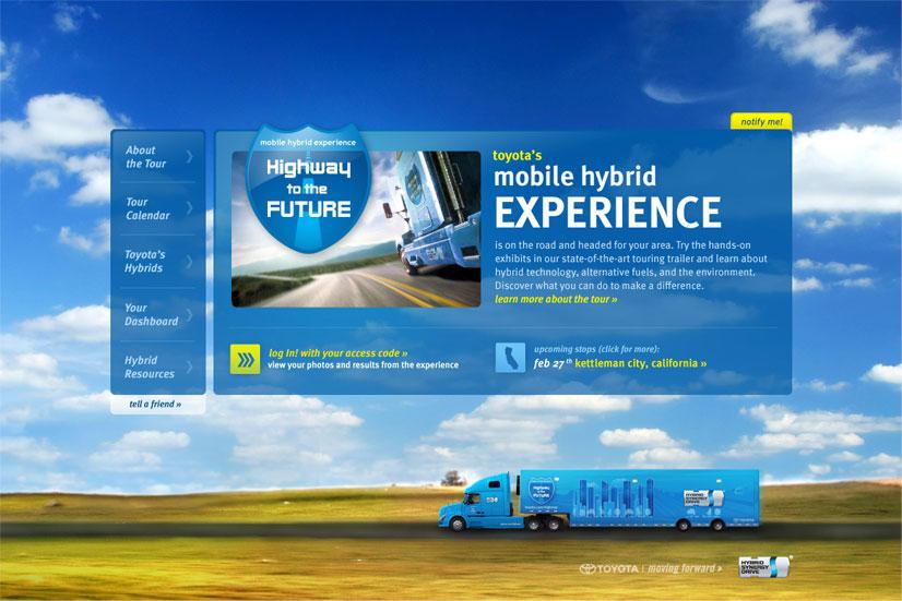 Toyota Hybrid: Web Site Home Page