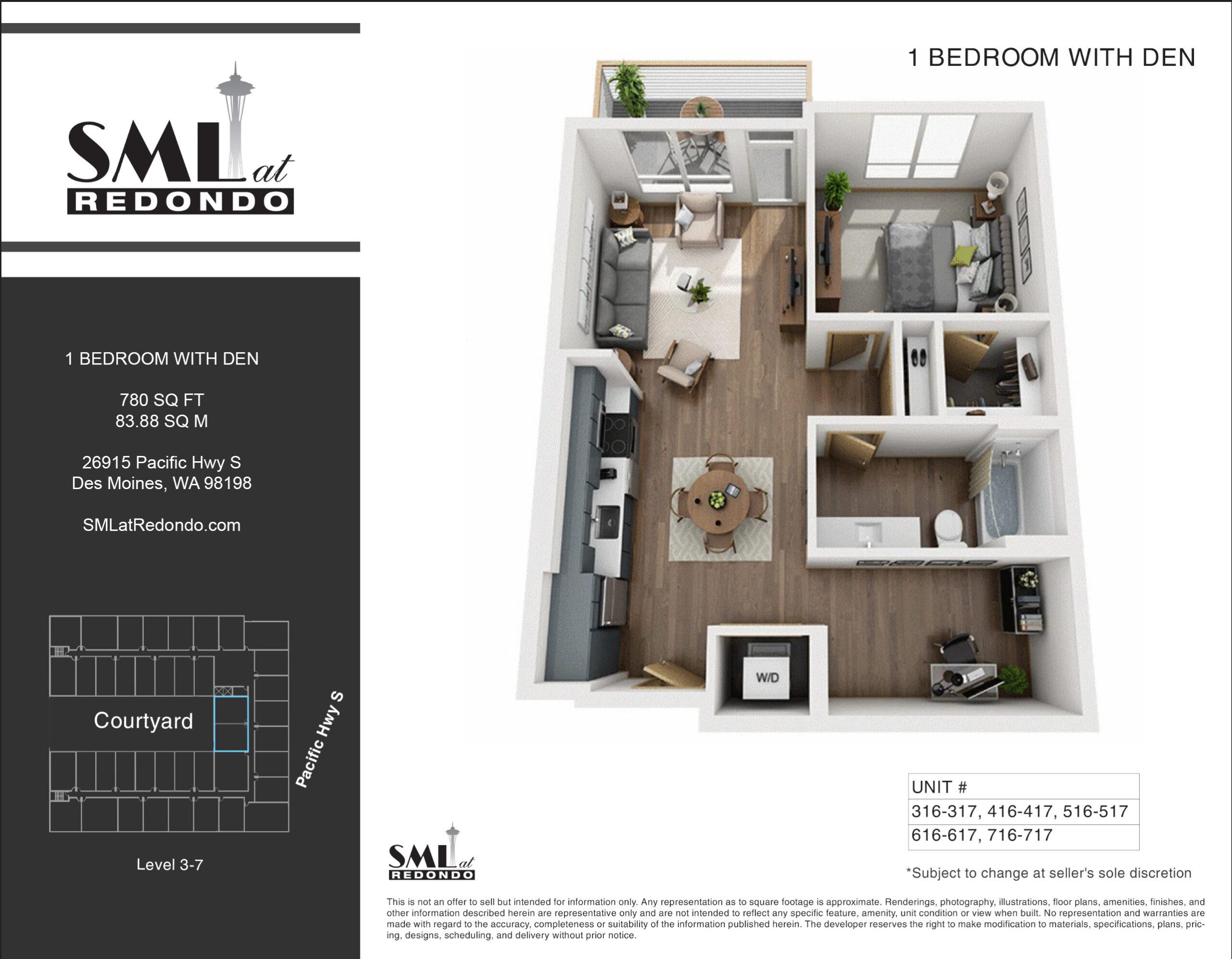 SML Redondo 1 Bedroom with Den