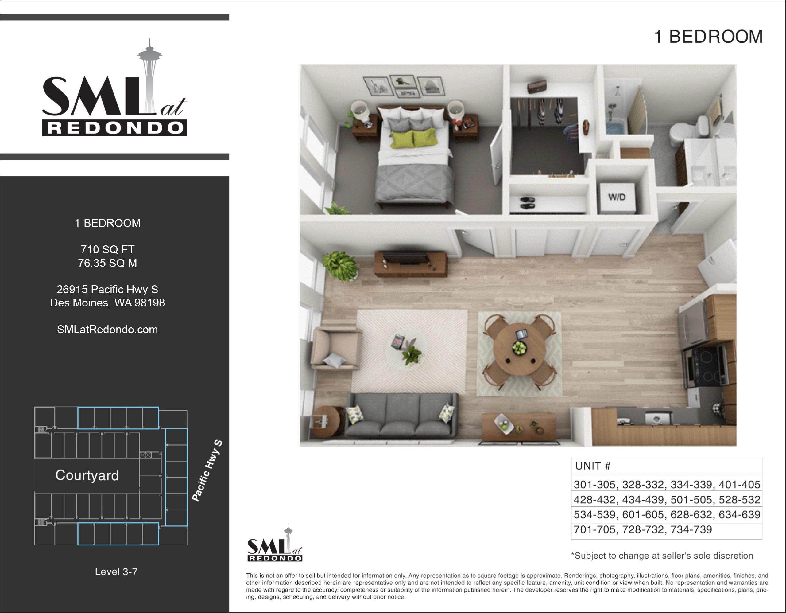 SML 1 Bedroom