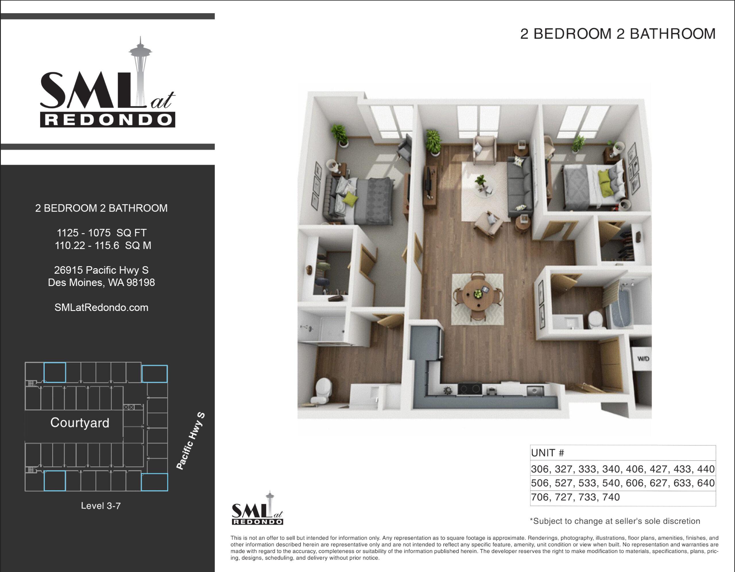 SML Redondo 2 Bedroom 2 Bathroom