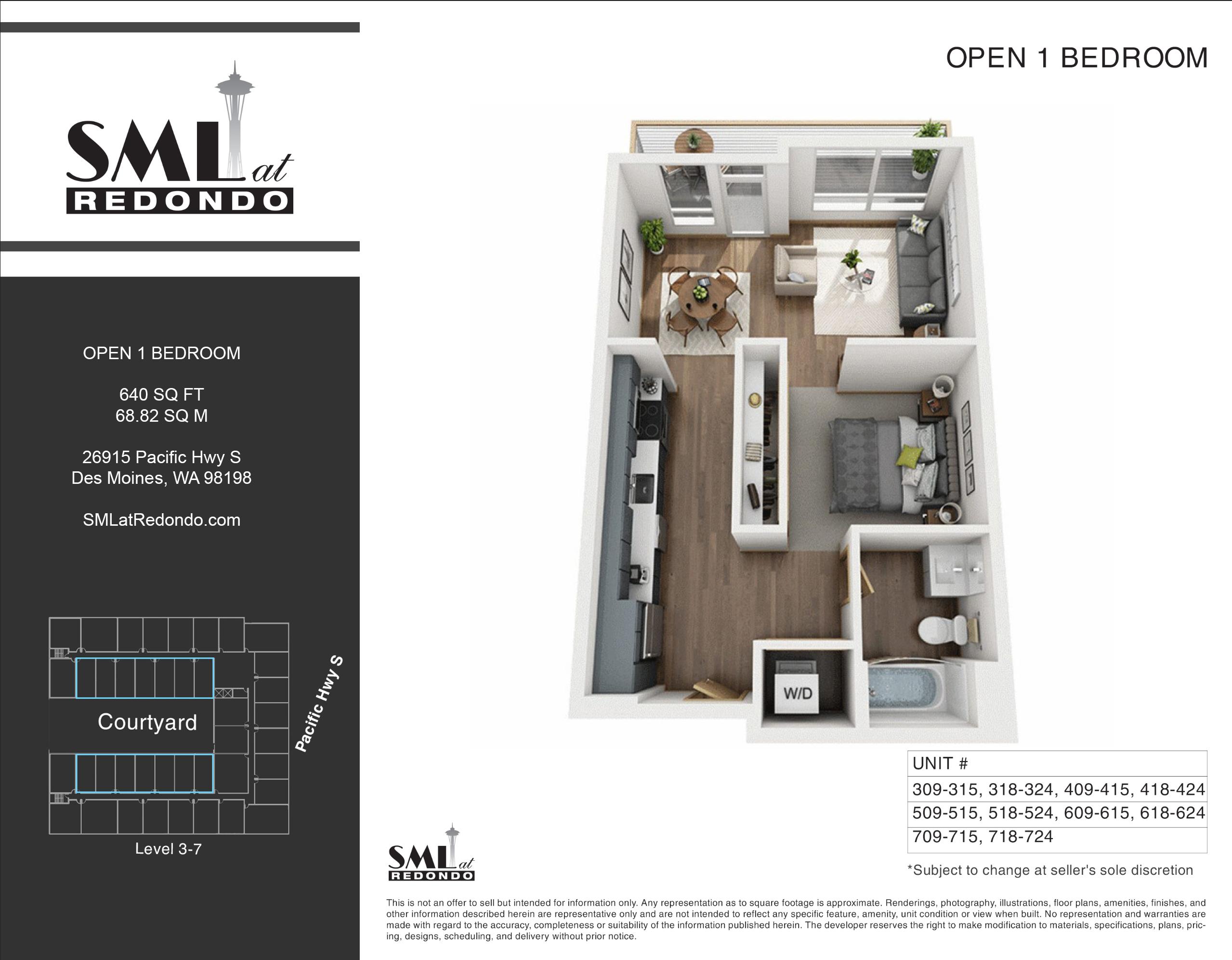 SML Redondo Open 1 Bedroom