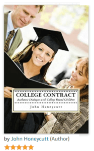 """Honeycutt's well received book """"College Contract"""" helps parents avoid failure to launch."""