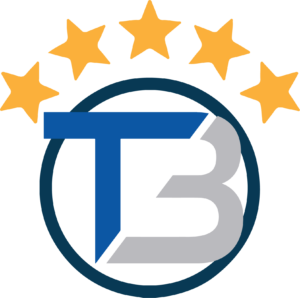 The Transblue logo with five stars on top.