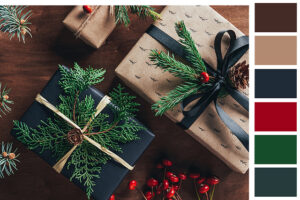 natural holiday Christmas palette