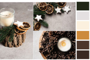 hygge christmas natural nordic color palette
