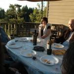 john doan harp guitar retreat student patio dinner