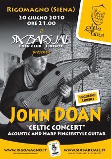 John Doan in Six Bars Jail Concert 2010, Italy