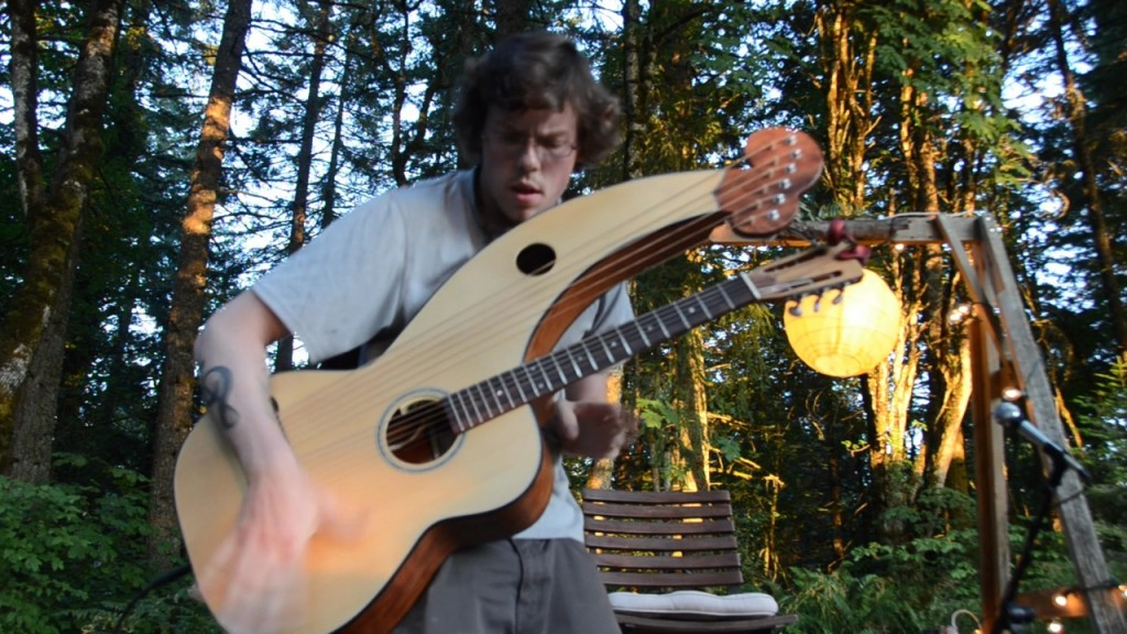 Adrian Bellue Harp Guitar Performance