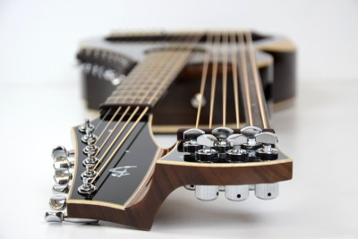 Brunner Harp Guitar from the top down