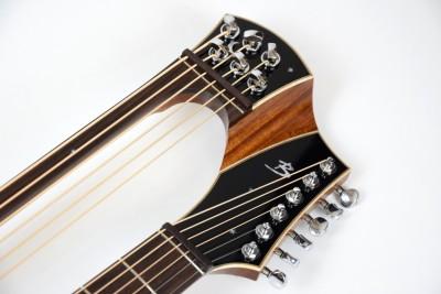 Brunner Harp Guitar headstock
