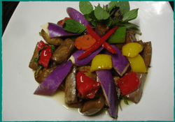 Komol Thai Restaurant - Eggplant with Black Bean Sauce