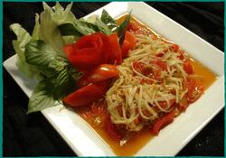 Komol Thai Restaurant - Vegetarian Papaya Salad
