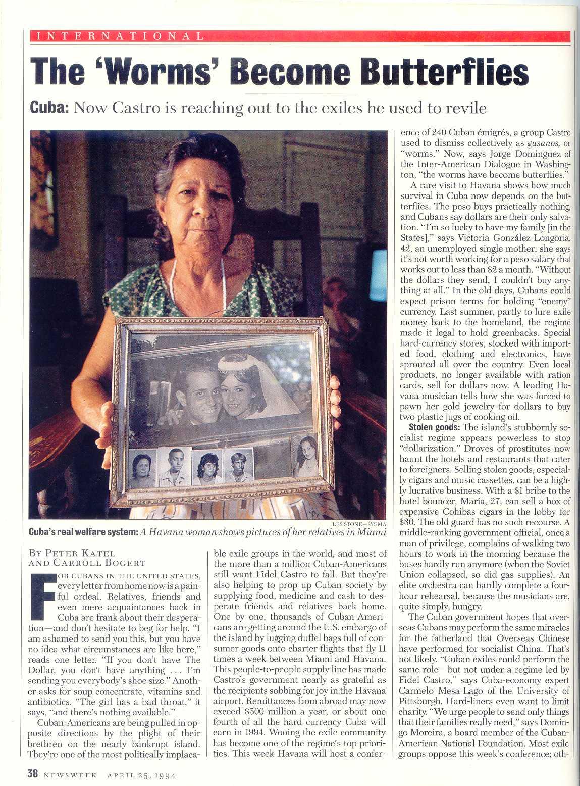 Peter Katel in Havana, Cuba – NEWSWEEK Magazine (1994)