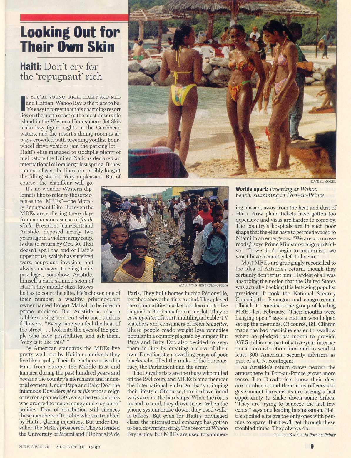 Peter Katel in Port Au Prince, Haiti – NEWSWEEK Magazine (1993)