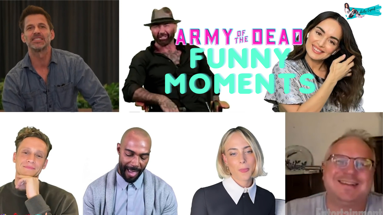 Army of the dead cast funny moments
