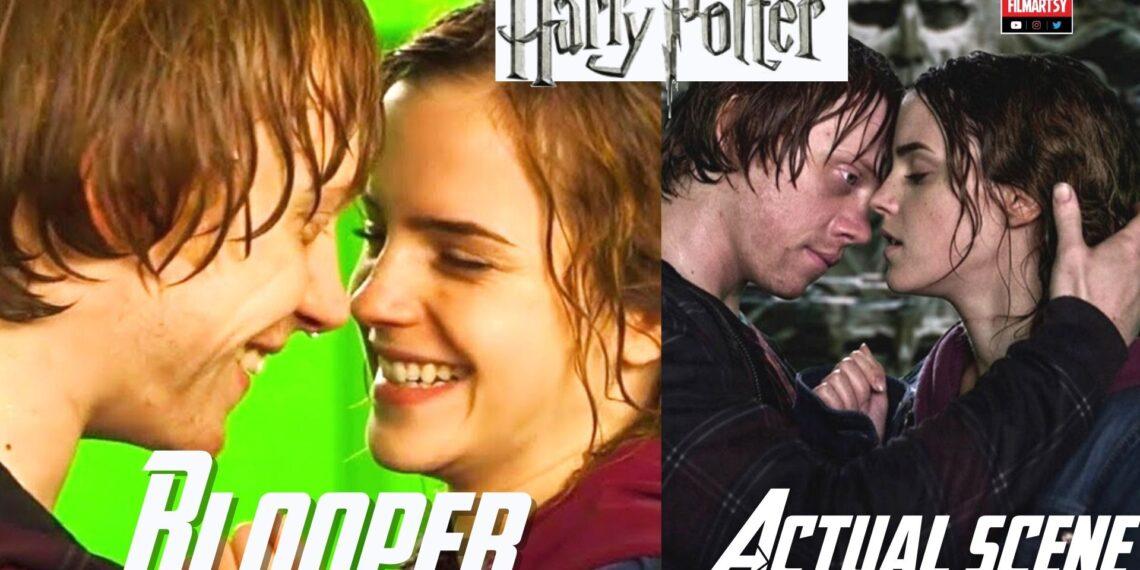 Harry Potter Bloopers Vs. Actual Scene