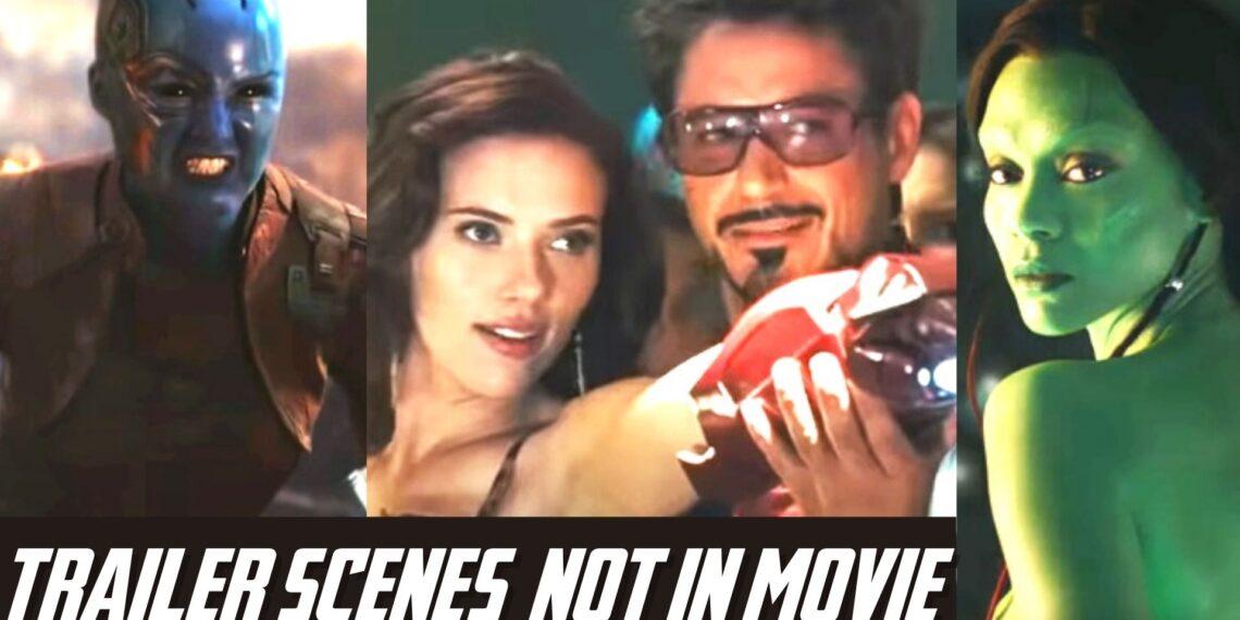 marvel trailer scenes not in movies