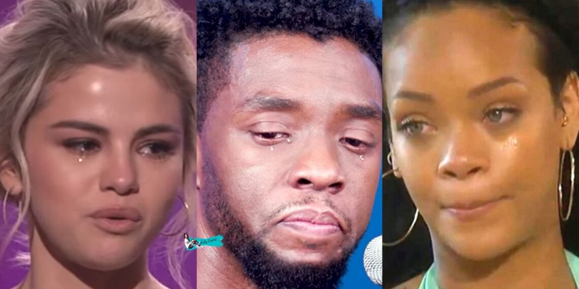 celebrities crying