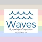 Our Logo is Waves upon the Rainbow Flag with Black and Brown Stripes