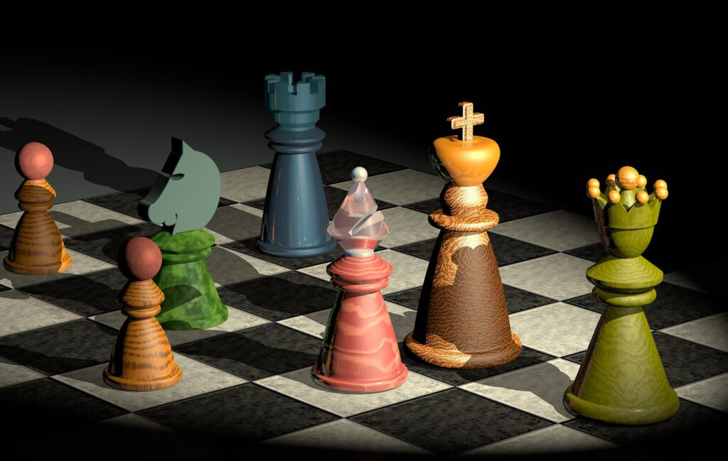 colorful chess pieces gtg