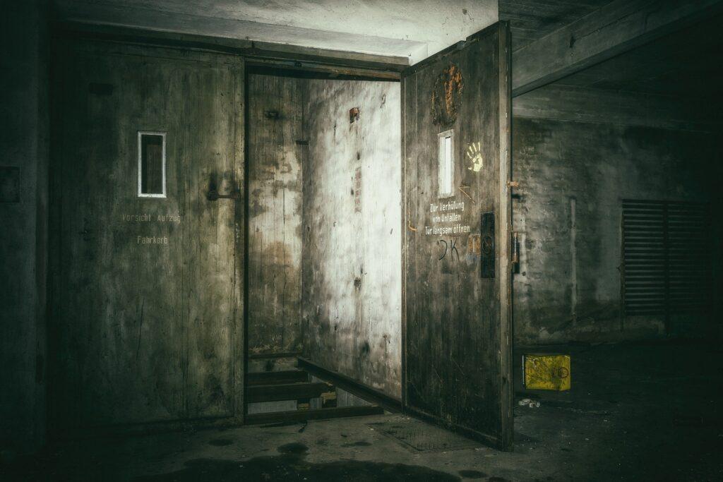 Scary bunker door