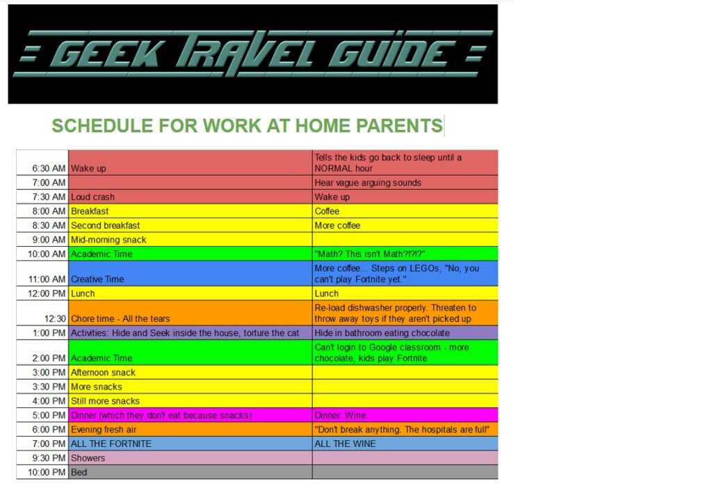 Are You Ready to Be Home with Your Kids for Two Weeks or More Due to COVID-19?