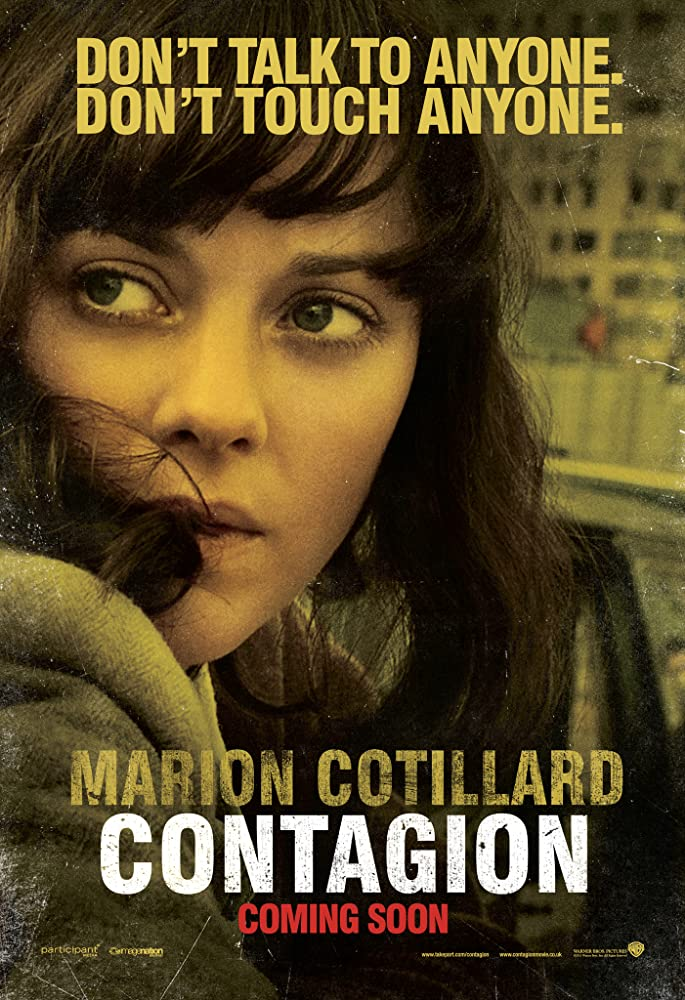 Contagion movie promo pic with Marion Cotillard