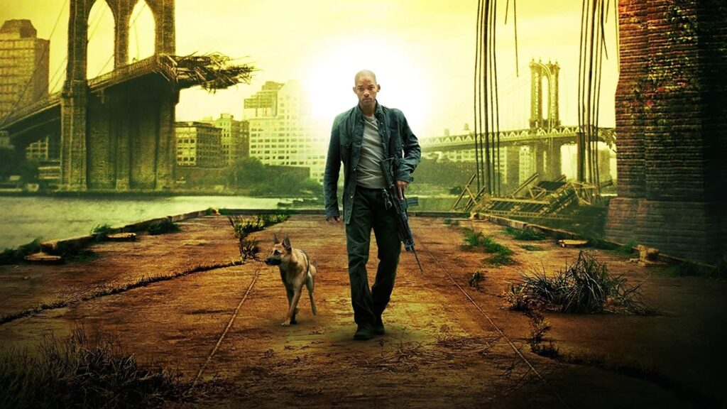 I am legend promo pic with Will Smith and Dog