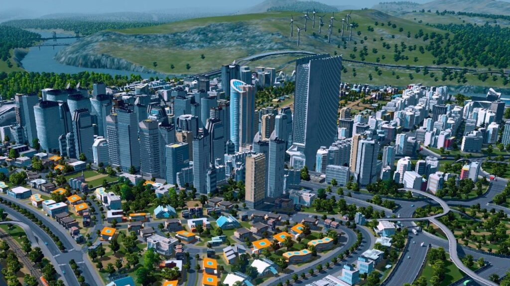 Buildings and skyscrapers in Cities: Skylines