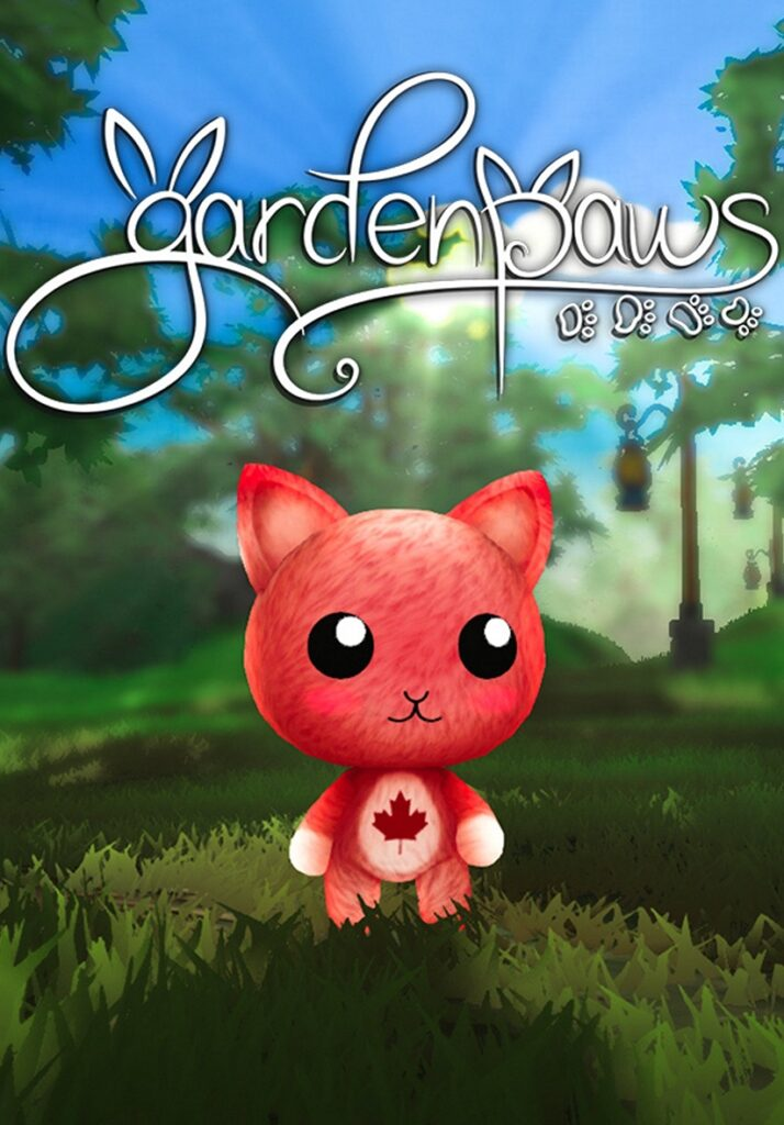 Garden Paws cover with red cat with maple leaf on its stomach