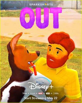 Disney Pixar's Out film poster