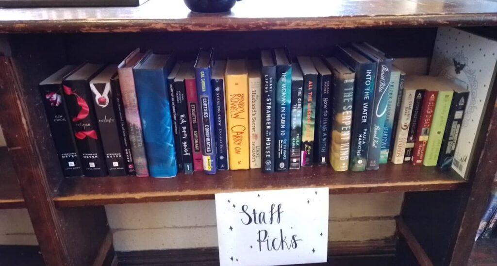 Somethin's Brewin' Book Cafe staff picks