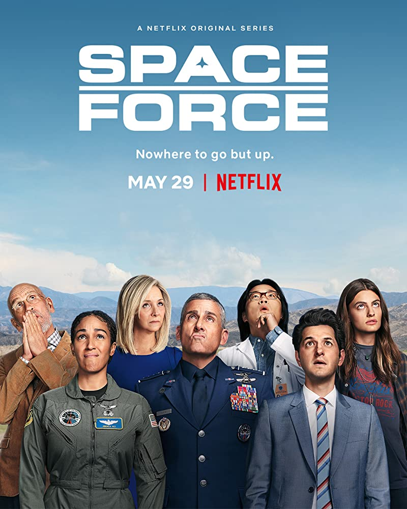 Netflix's Space Force promo banner
