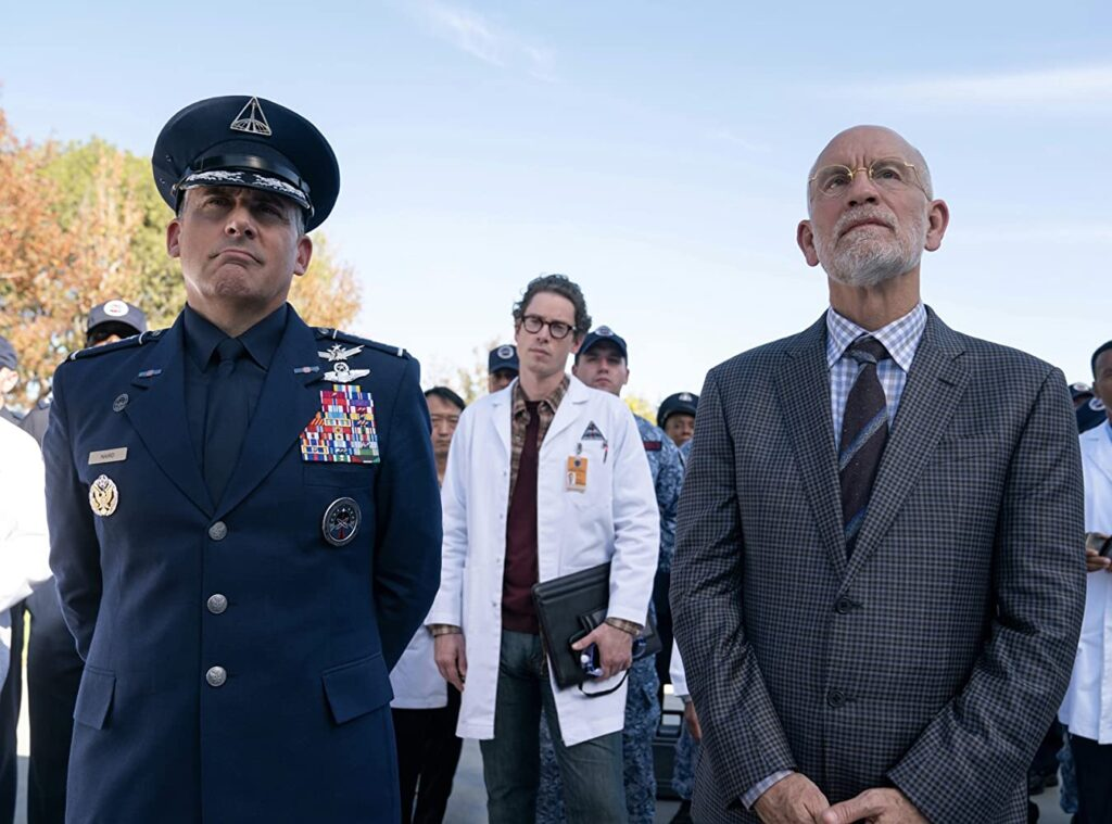 John Malkovich and Steve Carell on Netflix's Space Force