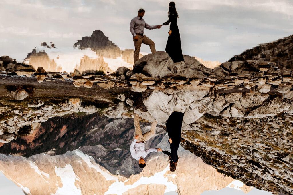 Adventure engagement session at Mt Baker